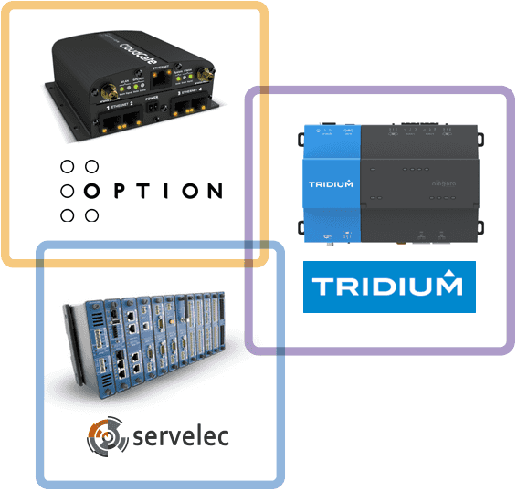 Option, Servelec and Tridium diagram